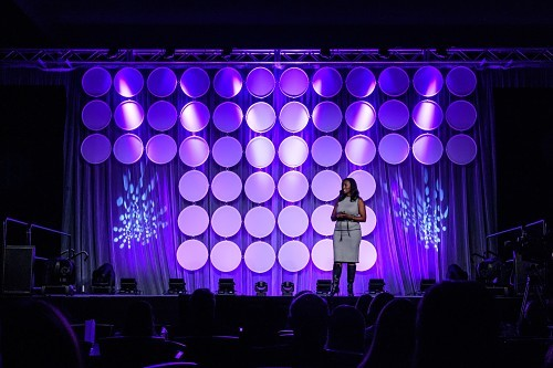 Marlena Gross-Taylor speaking at AMLE.