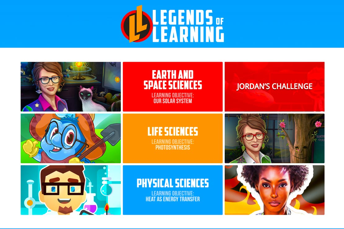 Legends of Learning demo science games