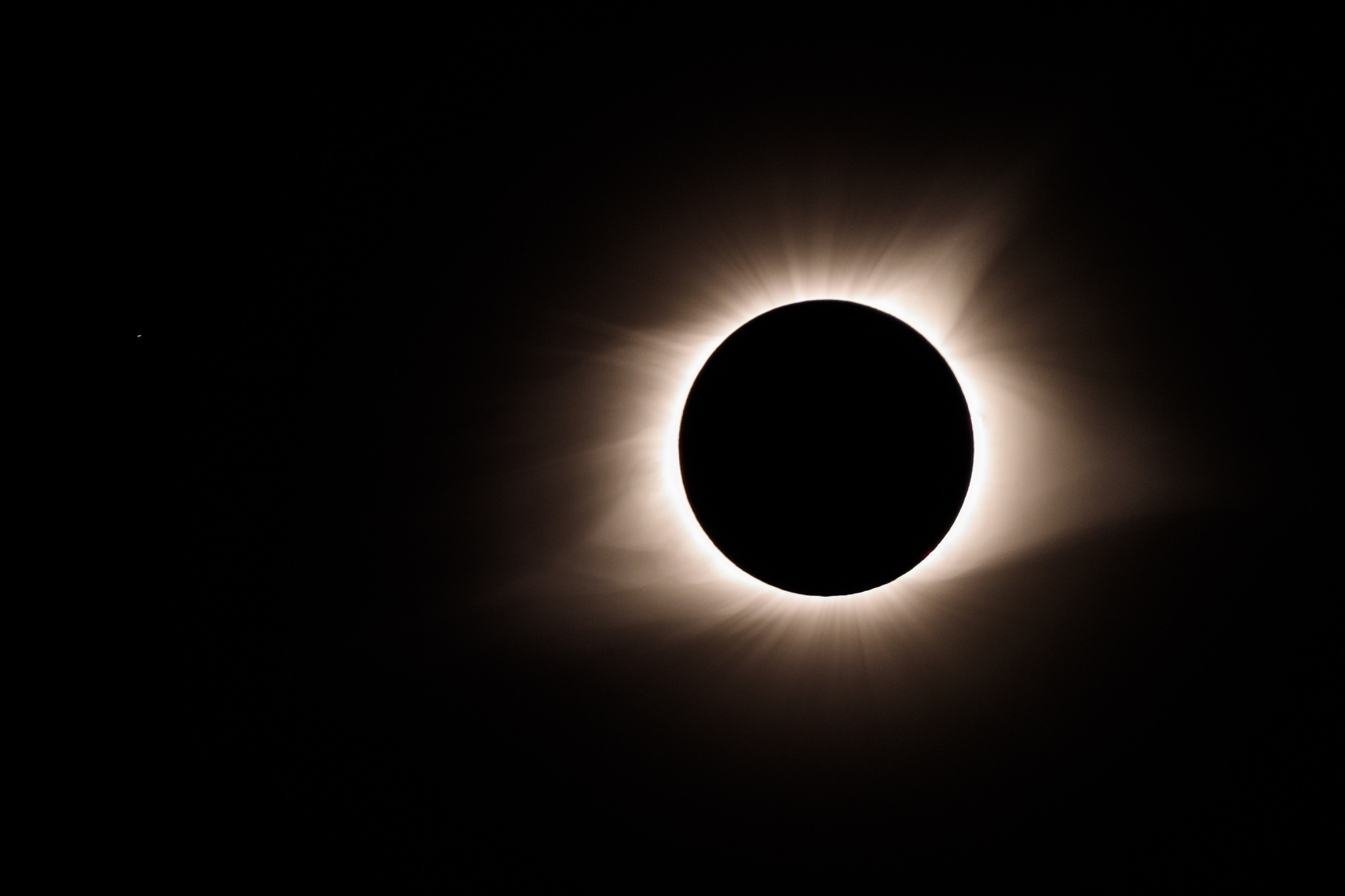 The eclipse at totality.