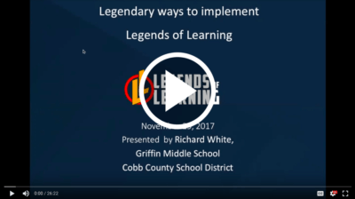 Link to the full video of Richard White's Legends of Learning test prep webinar.
