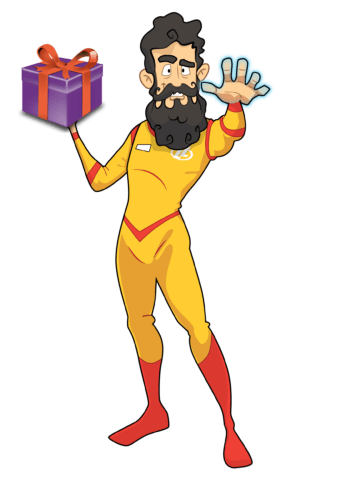 Give the gift of science games, and Captain Kinetic and the Legends will give you gifts!