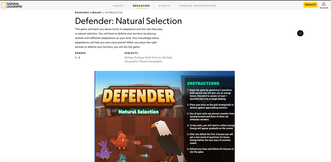 Defender: Natural Selection snapshot