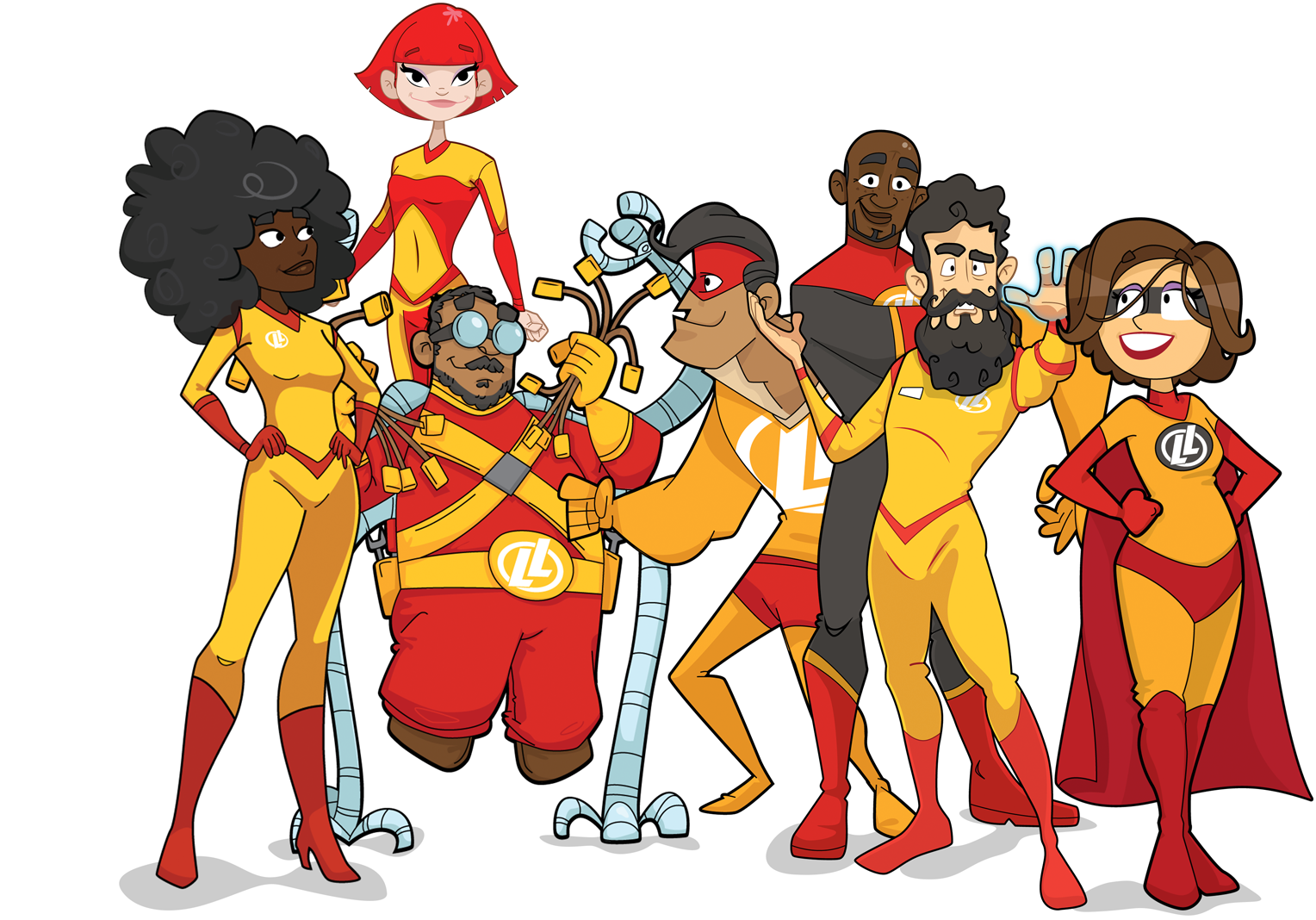 Group of superheros