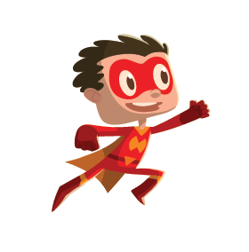 Student dressed up like a superhero
