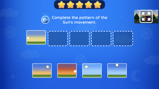 Bolo and the Terra Tower Gameplay showing the pattern of the Sun's movement