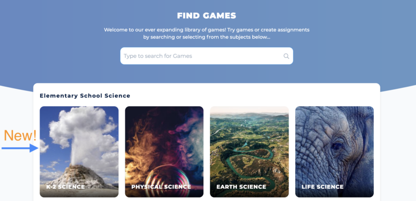 Legends of Learning offers new Kindergarten through 2nd grade science games