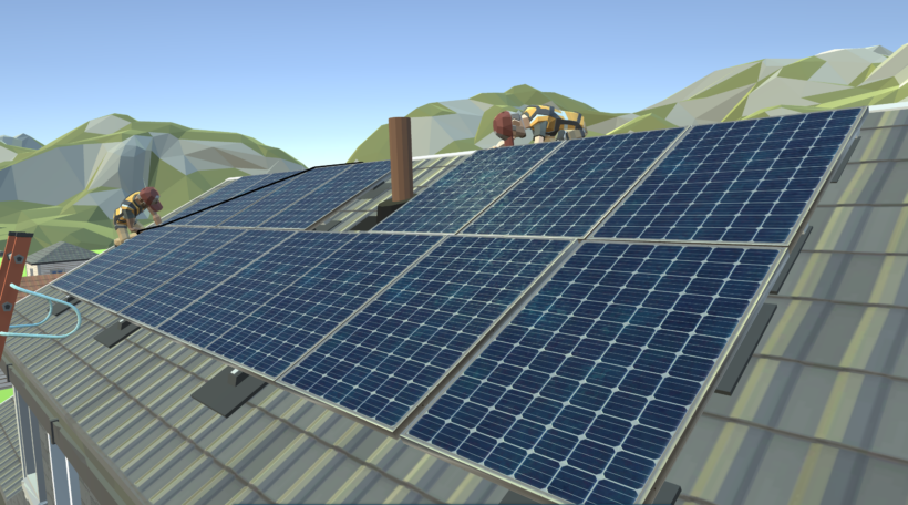 A game about real-world solar installation skills.