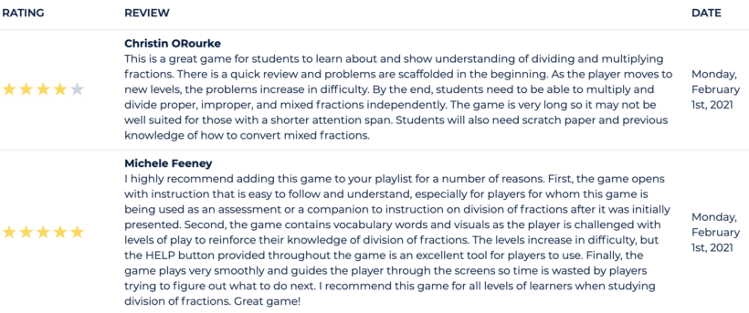 Teacher reviews for the game Potion Makers