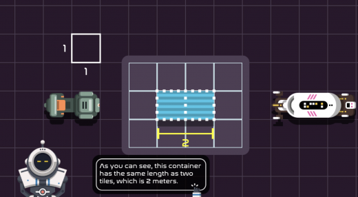 Use unit squares to find the area of a robot in its shipping container.